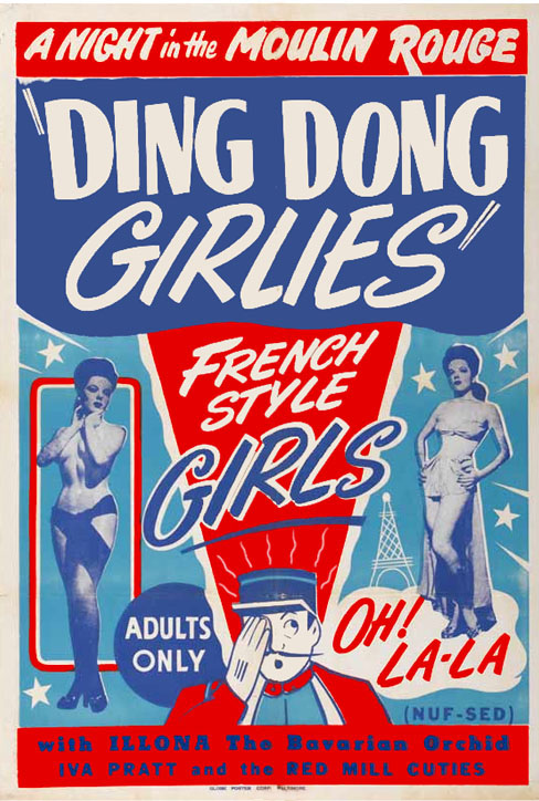 Burlesque Poster: Ding Dong Girlies