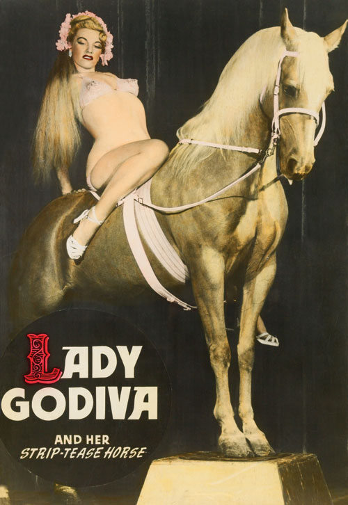 Burlesque Poster: Lady Godiva and her Strip-tease Horse