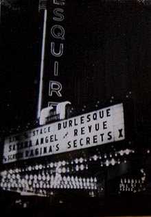 Marquee at Esquire on Market Street in San Francisco: Satana Angel
